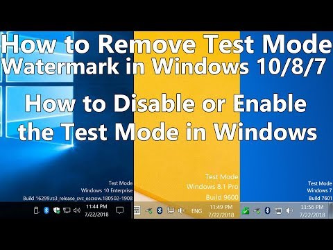 How to Remove Test Mode Watermark in Windows 10, 8, 7 How to Disable or Enable the Test Mode