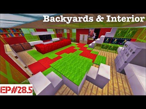 Minecraft   Building A City   #28.5  Backyards & Interior