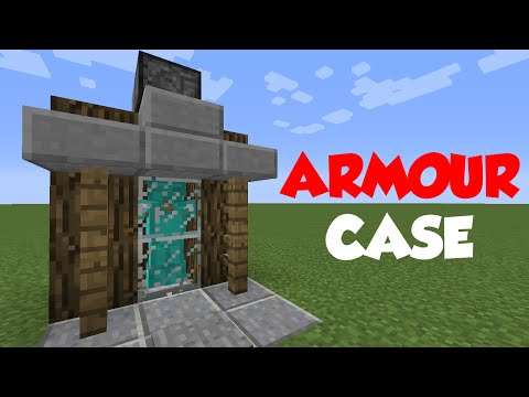 Minecraft 1.8: Redstone Tutorial - Armour Case! (Doesn't work in 1.9)