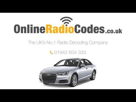 🚗     Audi A4 Radio Code Stereo PIN Unlock Codes Witihin Minutes.