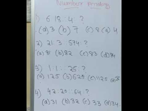 Number analogy in telugu for ssc, RRB, Banks part1