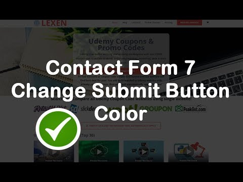 contact form 7 change submit button color simple video instruction