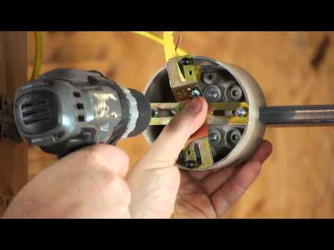 How to Install a Light Fixture With a Ground Wire When the Outlet Box Does... : DIY Electrical Work