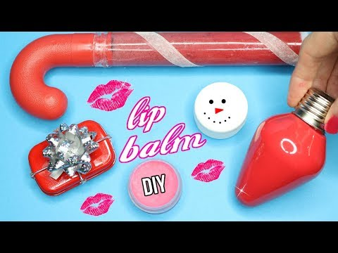 DIY Lip Balm {Easy}! How To Make 5 Amazing Lip Gloss DIYs! 100% Fun Winter Makeup Projects!