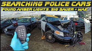 Searching Police Cars Found Sig Sauer, Amber lights, Wax  Ford Crown Vic