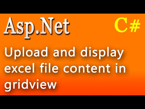 Upload and display excel file content in gridview using asp.net