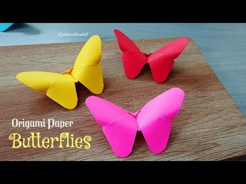 How to make Origami paper butterflies | Easy craft | DIY crafts