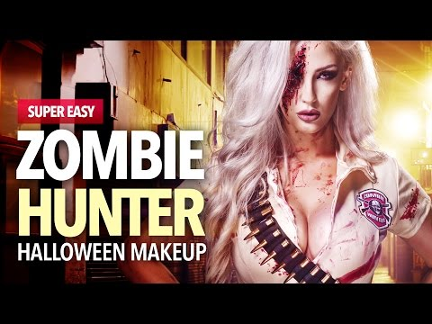 Zombie hunter makeup and costume idea