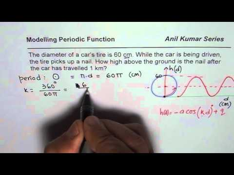 Height of Nail on Car Tire Q13 P Nelson Trigonometric  Functions