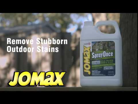 How to use Jomax Spray Once to Remove Exterior Mold & Mildew