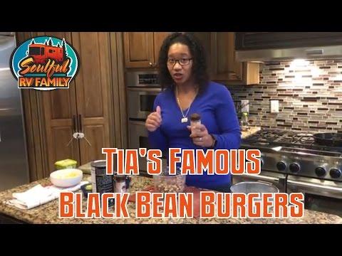 Tia's Black bean burgers