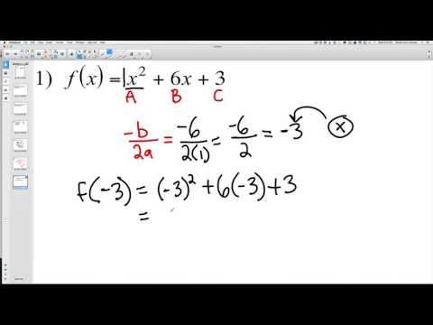 Finding Minimum and Maximum Polynomials 1