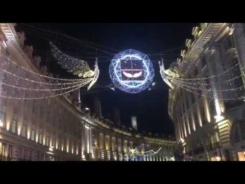Regents Street London Christmas lights 2017