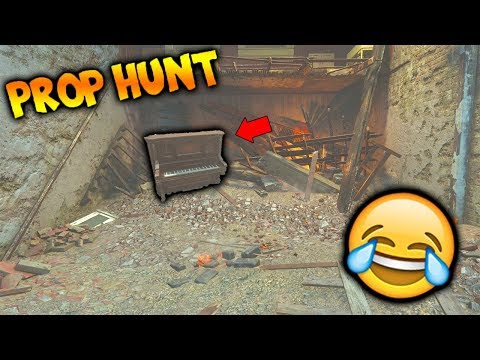 *HILARIOUS WIN!* I LITERALLY 'BECAME' THE PROP... (Brand NEW 'Prop Hunt in COD WW2!)