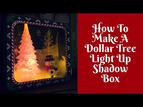 Christmas Crafts: Dollar Tree DIY Shadow Box