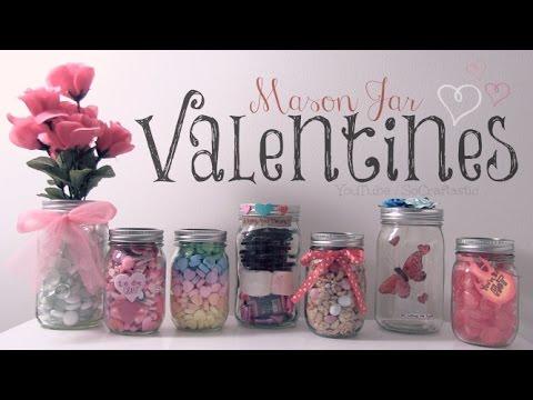 DIY Mason Jar VALENTINES - Easy Gifts & Room Decor - How To | SoCraftastic