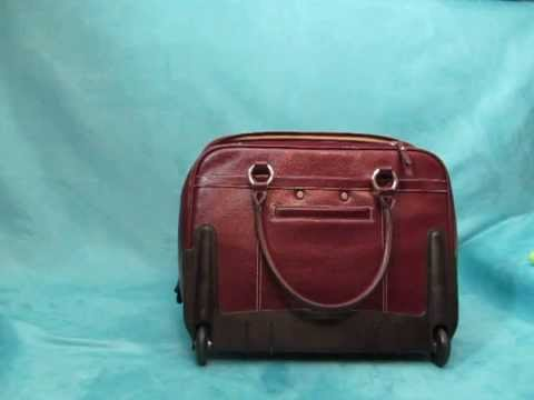 Franklin Covey Red Rolling Briefcase-Product Demonstration Video