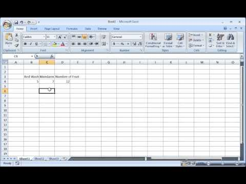 Microsoft Excel 2010 & 2007 Training Tutorial - Adjusting Column Width