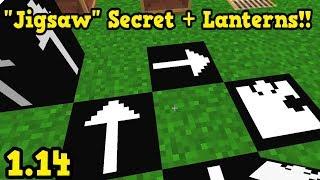 Minecraft 1.14 - New JIGSAW Block, Lanterns & Pillager NERF