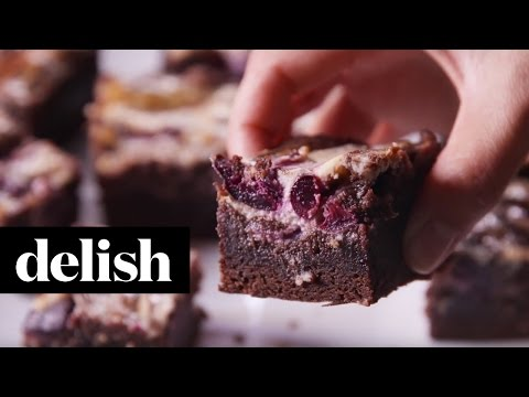 Cherry Garcia Brownies | Delish