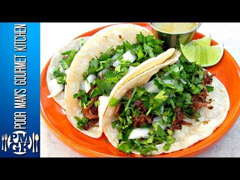 Street Tacos - Cachete Beef Roast Slow Cooker Recipe - PoorMansGourmet