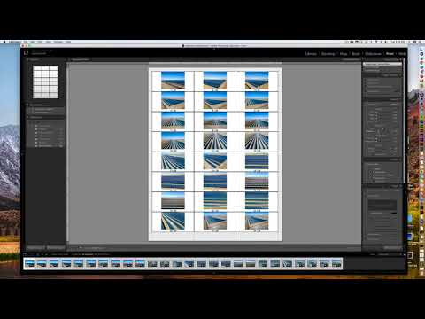 How to make a Proof or Contact Sheet in Adobe Lightroom for Photos