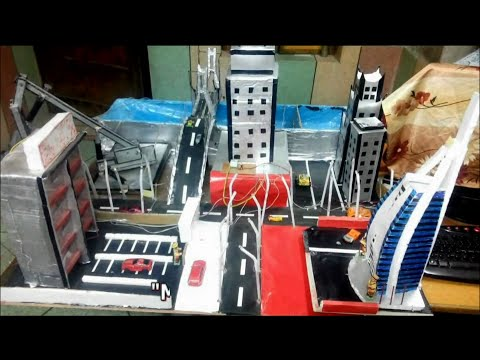 How To Make Hydraulics And LDR Based Working Model Of A City
