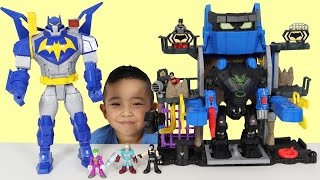 Robo Batcave Playset Kids Toy Unboxing And Playing With Batman Robin Joker Ckn Toys