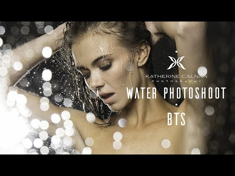 Photography Behind The Scenes Simulated Rain and Inflatable Pool Water Photoshoot