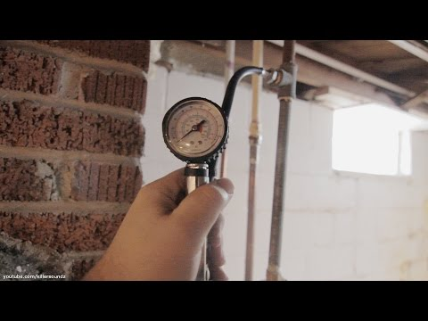 DIY Pressure Test Natural Gas Lines Cheaply w/ Tire Inflator