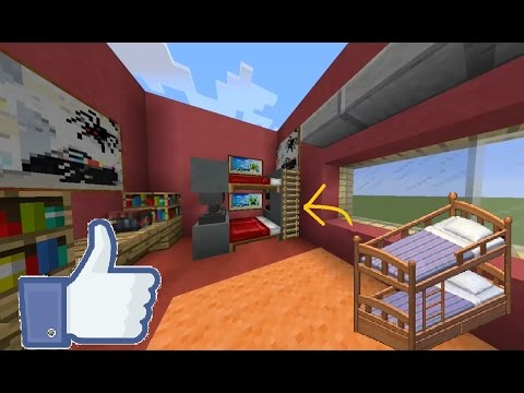 ( ^ _^) Minecraft   How To Make A Bunk Bed!   Easy and Simple   Minecraft 1.11.2