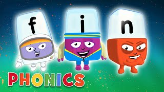 Phonics - Learn to Read | F is for Fin! | Alphablocks