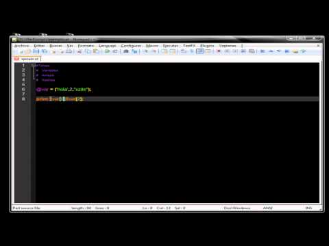 Perl - Vars , Arrays & Hashes - Parte 2