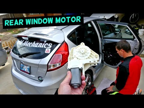 FORD FIESTA REAR WINDOW MOTOR REPLACEMENT REMOVAL 2008-2017