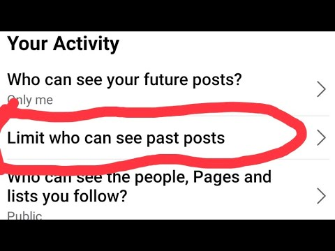 Facebook all old posts change public to friend