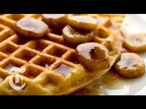 Cornmeal Waffles With Bourbon Syrup   Melissa Clark Recipes   The New York Times