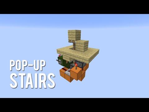 Redstone: Pop-Up Stairs [Tutorial]