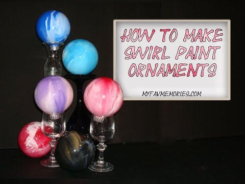 How to make Paint Swirl Ornaments | Fun and Easy DIY (2017)