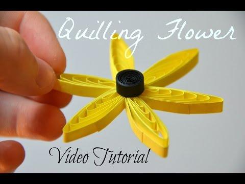 DIY Easy Quilling Comb Flower Tutorial