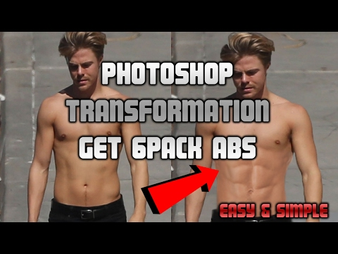 HOW TO GET SIX PACK ABS IN PHOTOSHOP | EASY & SIMPLE | 2017