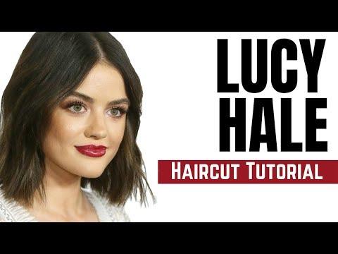 Lucy Hale Haircut Tutorial - Bob Haircut 2018 - TheSalonGuy