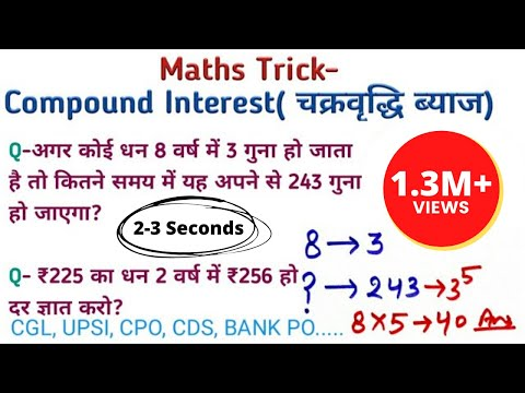 Maths Trick || Compound Interest - Tricky Questions || 2 सेकंड में Solve