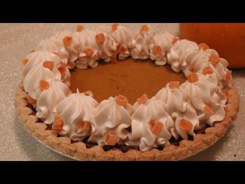 Candied Fresh Pumpkin Pie