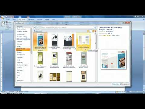 how to create a brochures on MS Word 2007