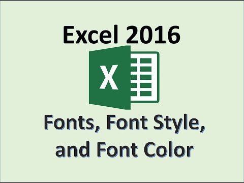 Excel 2016 - Font Style - How To Change Font Color in the Cell - Theme Palette Accent Colors of Text