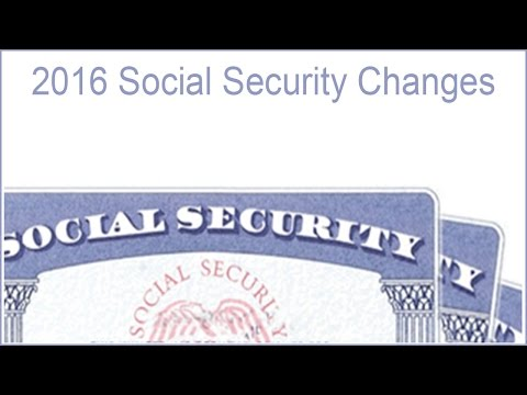2016 Social Security Changes