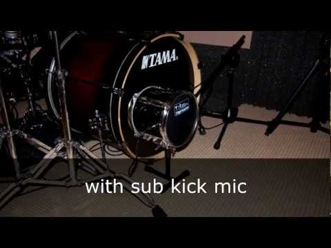 DIY sub kick mic, testing 3 woofer sizes
