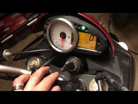 2007 Kawasaki Z1000 How to Check F1 light Code FL light