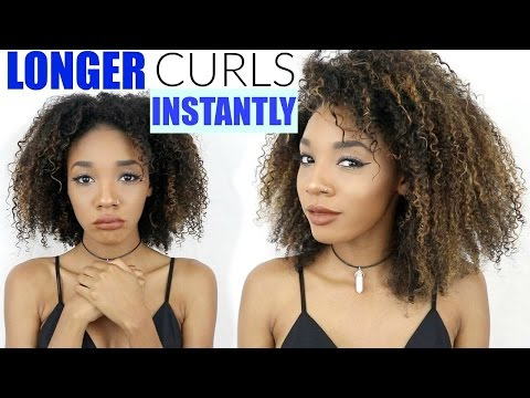 How To Get Longer Curls INSTANTLY! NO MO Shrinkage :)