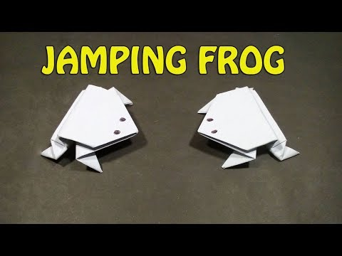 Origami jumping frog | How to make a paper frog that jumps high and far | Easy Paper Origami